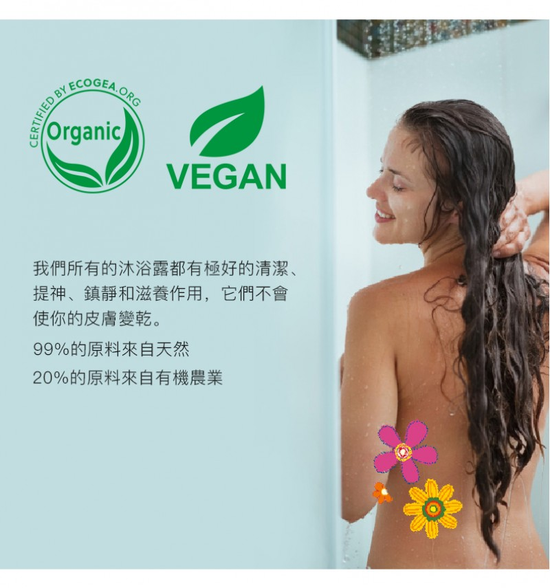 Natural Organic Shower gel Agave & Lotus (250 ml)
