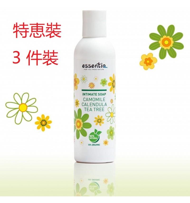 Natural Organic Intimate Soap - Camomile, Calendula & Tea tree (200ml) ~ 3 pcs Set